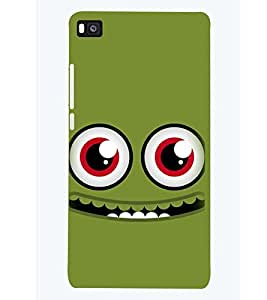 PRINTSWAG HAPPY SMILEY Designer Back Cover Case for HUAWEI P8