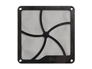 Silverstone Tek FF122 120mm Fan Filter with Magnet for Case Fan and Panel Air Vent Cooling (Black)