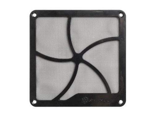 SilverStone 140mm Fan Filter with Magnet for Case Fan/Power Supply Fan and Panel Air Vent FF141B (Black)