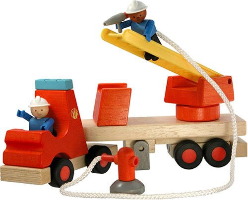 WoodyClick Construction System, Fire Ladder Truck - Buy WoodyClick Construction System, Fire Ladder Truck - Purchase WoodyClick Construction System, Fire Ladder Truck (Hape International, Toys & Games,Categories,Play Vehicles,Wood Vehicles)