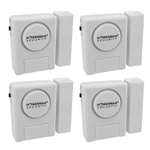 Doberman security window door alarm kit 4 pack ebay for Window alarms