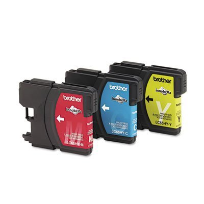 Brother LC65HY-CL Color Ink Cartridge - 3 Pack 