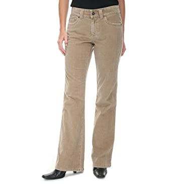 Lee Misses One True Fit  Wideband Bootcut , Taupe Corduroy , 7 / 8 Medium