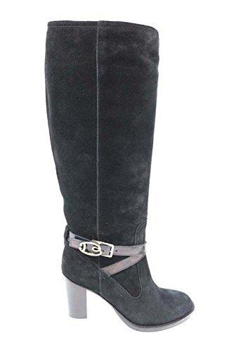 scarpe donna BRACCIALINI 39 stivali nero camoscio AN36-F
