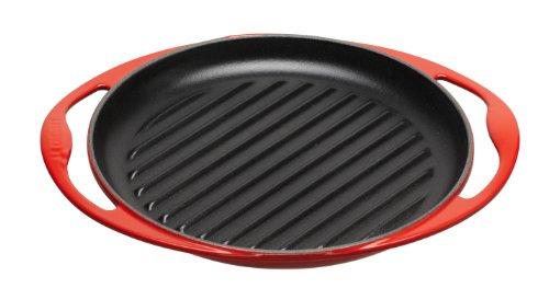 Le Creuset Cast Iron Round Grillit, Cerise, 26 cm