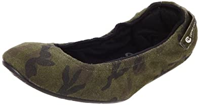 Ballasox by Corso Como Women's Festive Ballet Flat, Camouflage, 6 M US