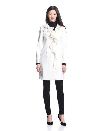 Dale Dressin Women's Ruffle Front Coat