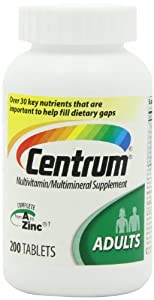 Centrum Base Multivitamin, Adult, 200-Count, Pack of 3