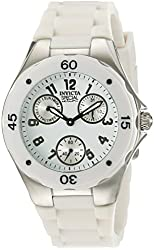 Invicta Women's 18786 Angel Stainless Steel Watch With White Silicone Band