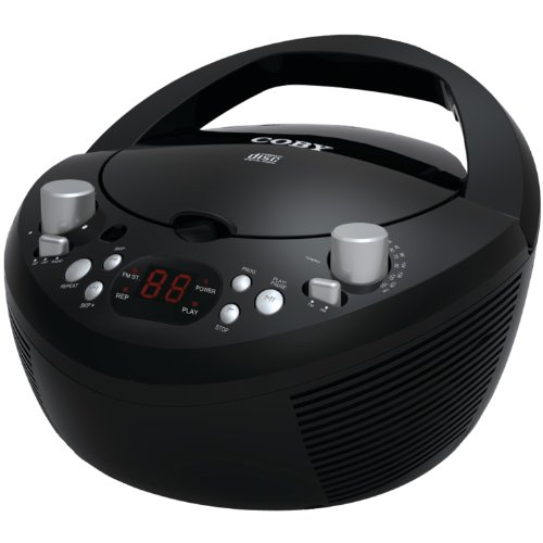 Coby MPCD281 Portable MP3/CD Player with AM/FM Radio Stereo Tuner (Black)
