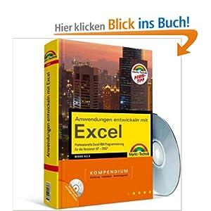 eBook Cover für  Anwendungen entwickeln mit Excel Preistipp Kompendium Professionelle Excel VBA Programmierung f uuml r die Versionen 97 2007