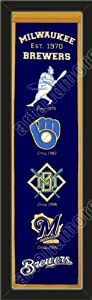 Heritage Banner Of Milwaukee Brewers-Framed Awesome & Beautiful-Must For A... by Art and More, Davenport, IA