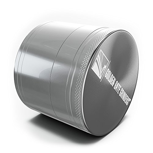 Golden-Gate-Grinders-Herb-Grinder-25-Inch-Ultimate-4-piece-Anodized-Aluminum-Silver-Large