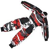 Wulfsport Wulf Cub Kids Quad Overall Racing Jump Suit Camo Design (Junior Medium 7-8 Years, Red Camo)