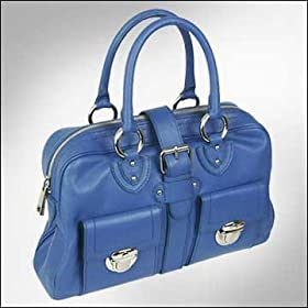 Marc Jacobs Venetia Leather Handbag Blue