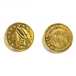 Large Liberty Head Gold Coins Solid Milk Chocolate (1/2 Lb - Approx 32 Pcs)