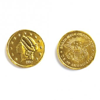 Large Gold Foiled Milk Chocolate Coins 1LB Bag (Coin Chocolate compare prices)