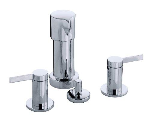 KOHLER K-960-4-CP Stillness Widespread Bidet Faucet, Polished Chrome
