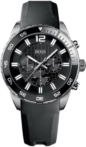 Hugo Boss 1512804 Black Dial & Strap Chronograph Men's Watch