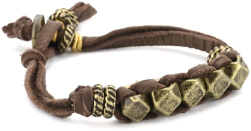 Ettika Men's Brass Large Faceted Beads and Donut