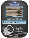 RÜGENFISCH Sardinenfilets Casablanca mit Olivenöl, 10er Pack (10 x 105 g)