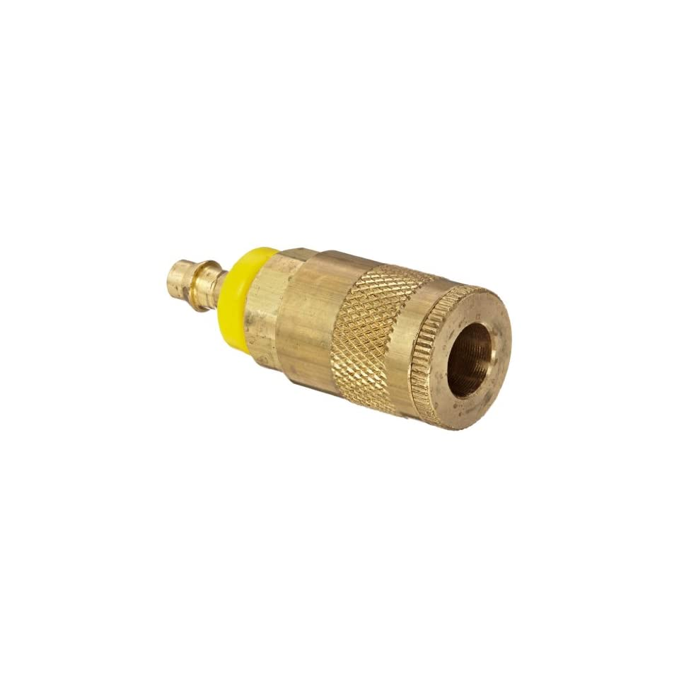 Dixon Valve DC242L Brass Air Chief Automotive Interchange Quick Connect Air Hose Socket, 1/4 Coupler x 1/4 Push On Hose ID Barb, 37 CFM Flow Rating