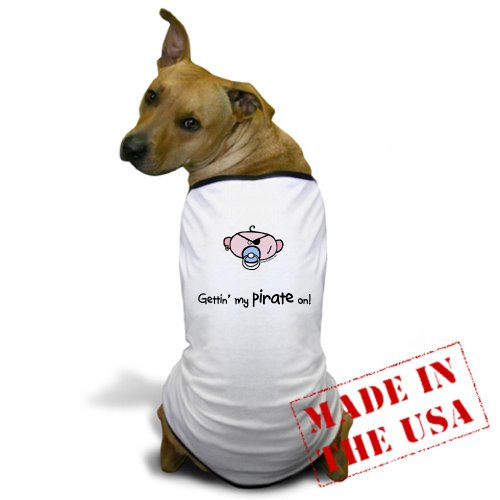 Cafepress Gettin' My Pirate On Dog T-Shirt - 2Xl White [Misc.] back-497280