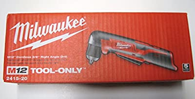 Bare-Tool Milwaukee 2415-20 M12 12-Volt 3/8-Inch Cordless Right Angle Drill/Driver (Tool Only, No Battery)