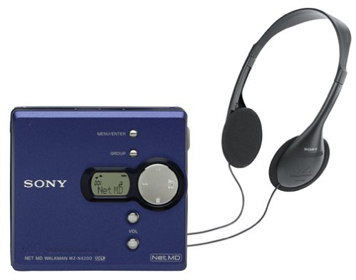 Sony MZ-N420D Net MD Walkman (Blue)