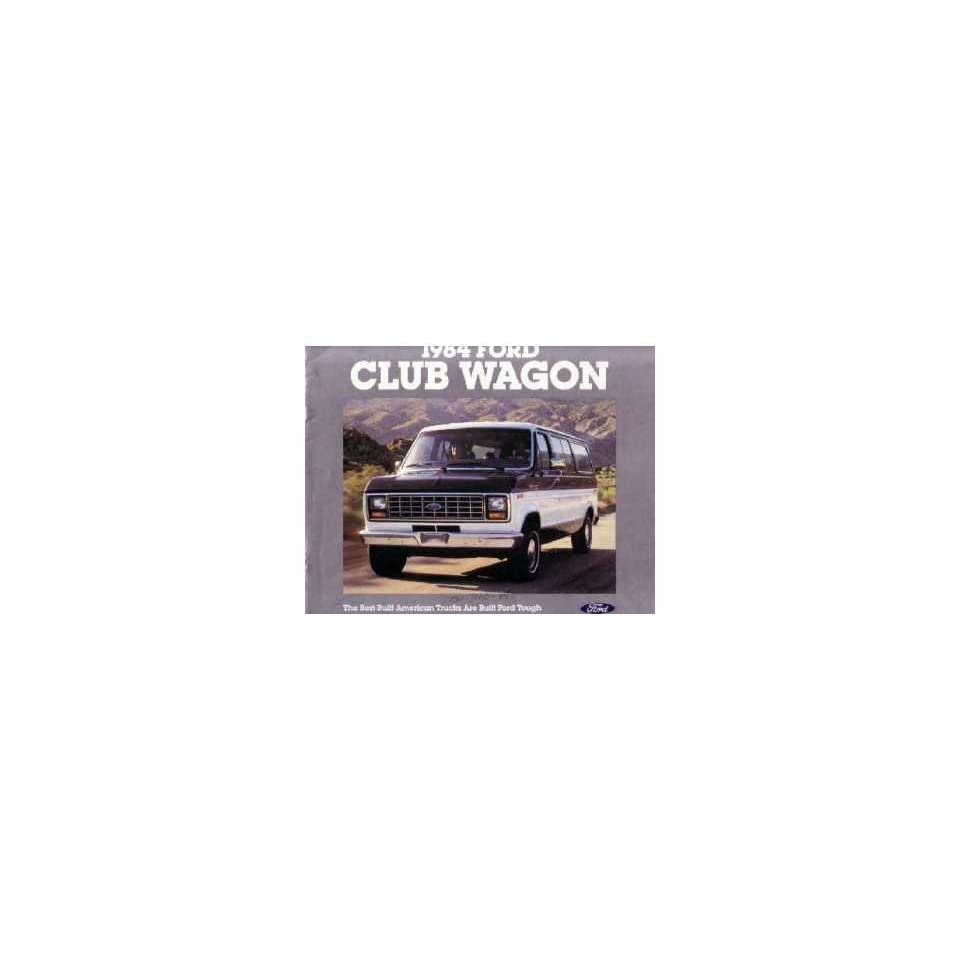 1984 Ford Econoline Club Wagon Sales Brochure Literature Book Piece Specs Automotive