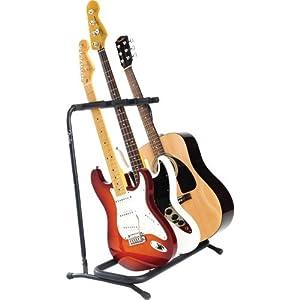 fender multi guitar stand for 3 guitars musical instruments. Black Bedroom Furniture Sets. Home Design Ideas