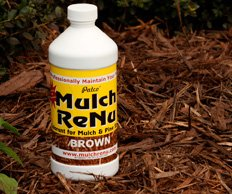 Mulch Dye: Dark Brown-Bring color back into your yard with Mulch Renu(Covers 500 square feet)