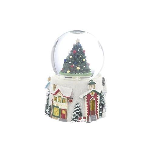 Personalized Medium Tree Snow Globe Christmas Ornament