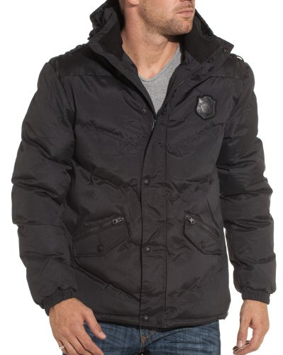 Mezaguz - Hooded jackets black man fashion trend and - Color: Black Size: S