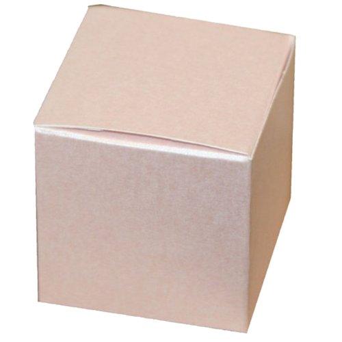 Perlglanz-Baby-Geschenkbox in Pink, 75 x 75 x 75 mm