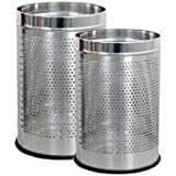 SSSilverware - Stainless Steel Perforated Open Dustbin/ Stainless Steel Garbage Bin/Medium And Large/ - 7 Litre...