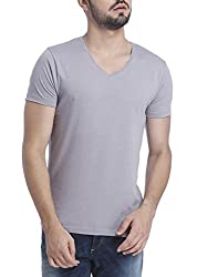 Jack & Jones Mens Casual Solid Slim Fit T-Shirt