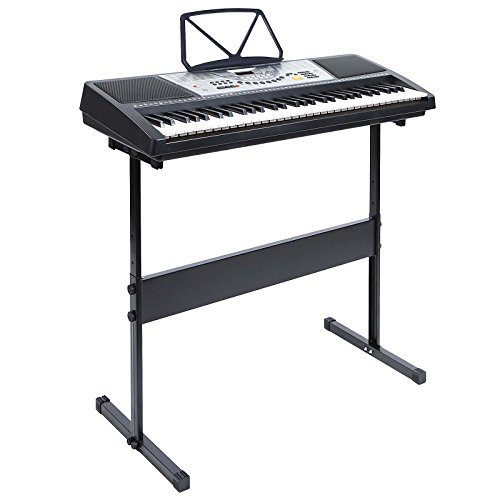 Hamzer 61 Key Electronic Music Electric Keyboard Piano with Stand - Black (Digital Keyboard Piano compare prices)