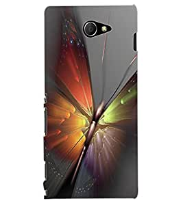 ColourCraft Amazing Butterfly Design Back Case Cover for SONY XPERIA M2 DUAL D2302