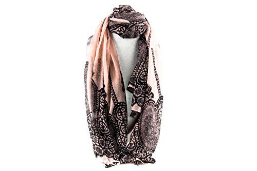 Foulard Bufanda chiffon GIANMARCO VENTURI mujer fashion motivos rosa L1243