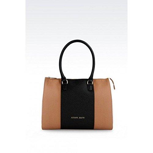 Armani Jeans borsa donna a spalla shopping nuova originale tricolor marrone