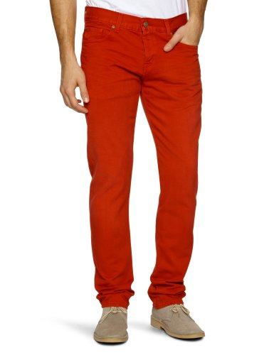 7 For All Mankind Chad 4 Slim Men's Jeans Red W30 INxL34 IN - SN5M750RE