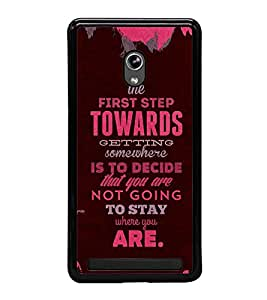 Fuson Premium 2D Back Case Cover Lovely quote With yellow Background Degined For Asus Zenfone 6::Asus Zenfone 6 A600CG