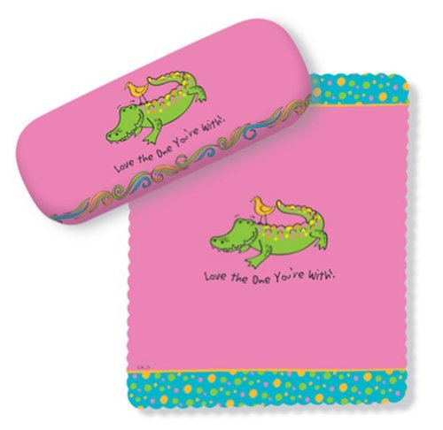 все цены на  Pink Gator Design Glasses Case & Lens Cloth - Love the One You're With  онлайн
