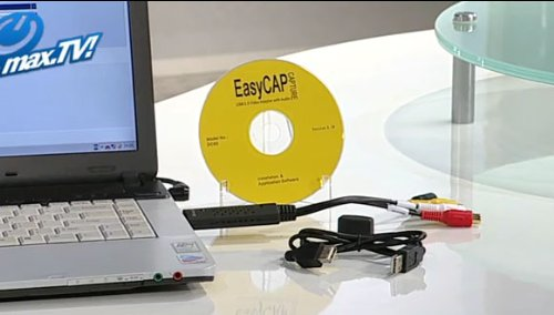 EasyCAP AS-EZ-CAP1 USB 2.0 Plug-and-Play Analog Audio and Video to Digital PC Capture Device