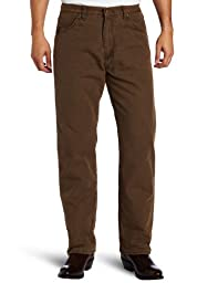 Wrangler Men\'s Rugged Wear Woodland Thermal Jean ,Night Brown,32x32