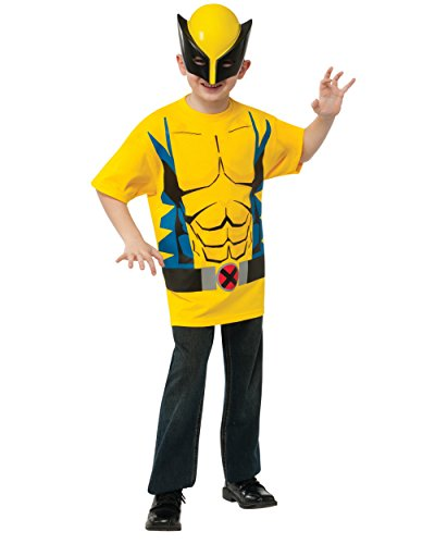 Child's Marvel Comics Universe X-Men Wolverine T-Shirt With Mask