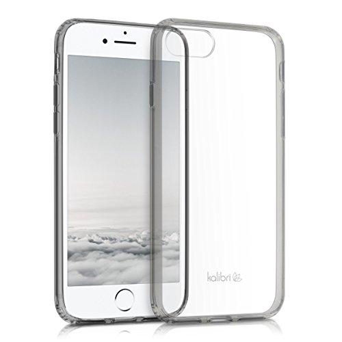 kalibri-Crystal-Case-Hlle-Sunny-fr-Apple-iPhone-7-transparente-Kunststoff-Schutzhlle-mit-TPU-Silikon-Rahmen-in-Schwarz-Transparent