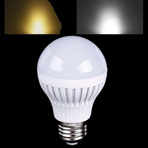 E27 7W Smd 5730 Led Plastic Globe Bulb Ball Light Lamp Warm Pure White Ac 220V #07