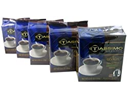 Tassimo T-Discs: Gevalia Signature Blend Decaf. Coffee T-Discs Pods (Case of 5 packages; 80 T-Discs Total)
